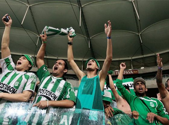 Crazy fans of Atletico Nacional