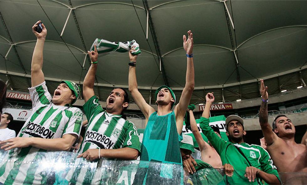Crazy fans of Atletico Nacional