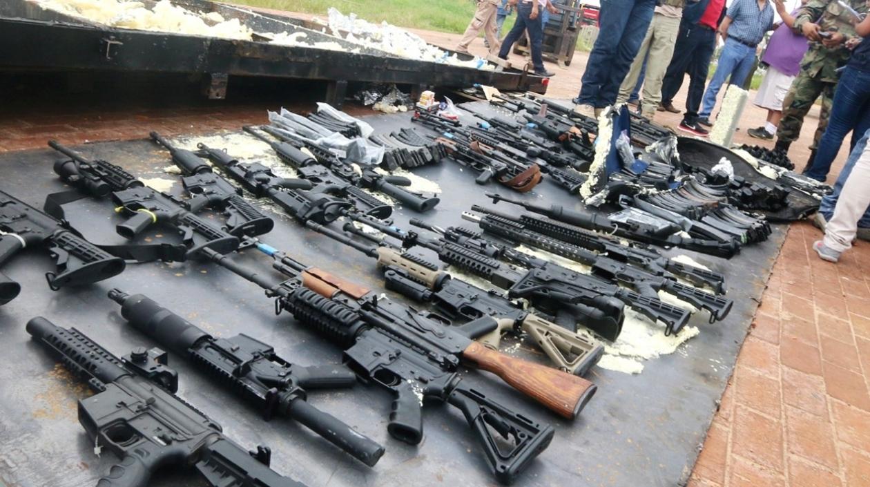 FARC weapon cache