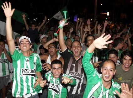 Fans of Atletico Nacional