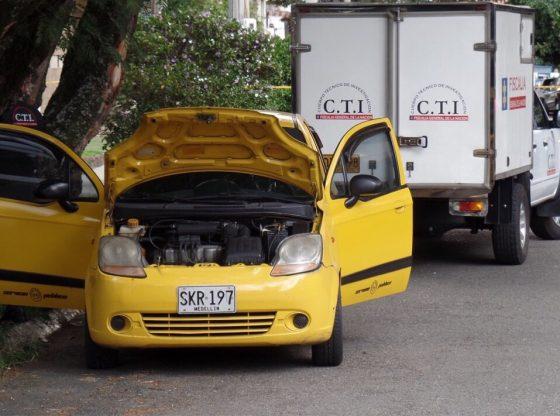 Taxi attack in Medellin