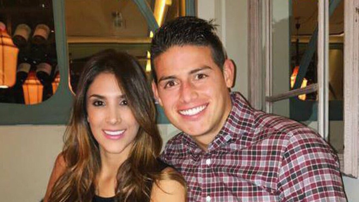 James Rodriguez and Daniela Ospina