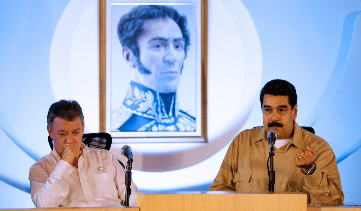 Maduro is Santos' father?
