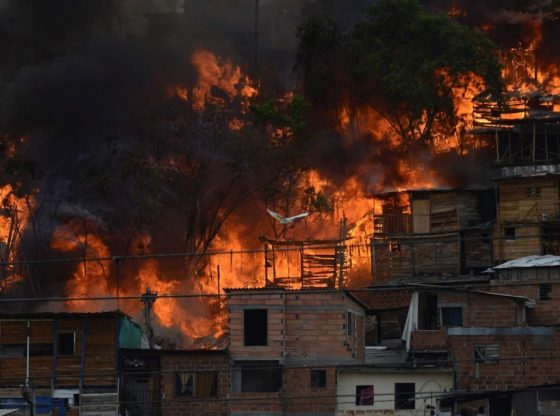 Fire in Moravia