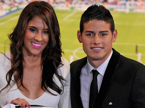 James Rodriguez and Daniela Ospina