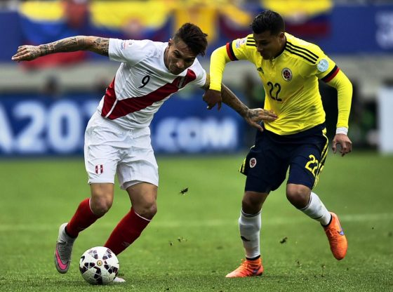 Columbia's Radamel Falcao admits discussing draw with Peru's Renato Tapia