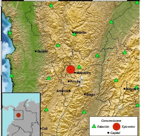 Strong quake rocks parts of Antioquia