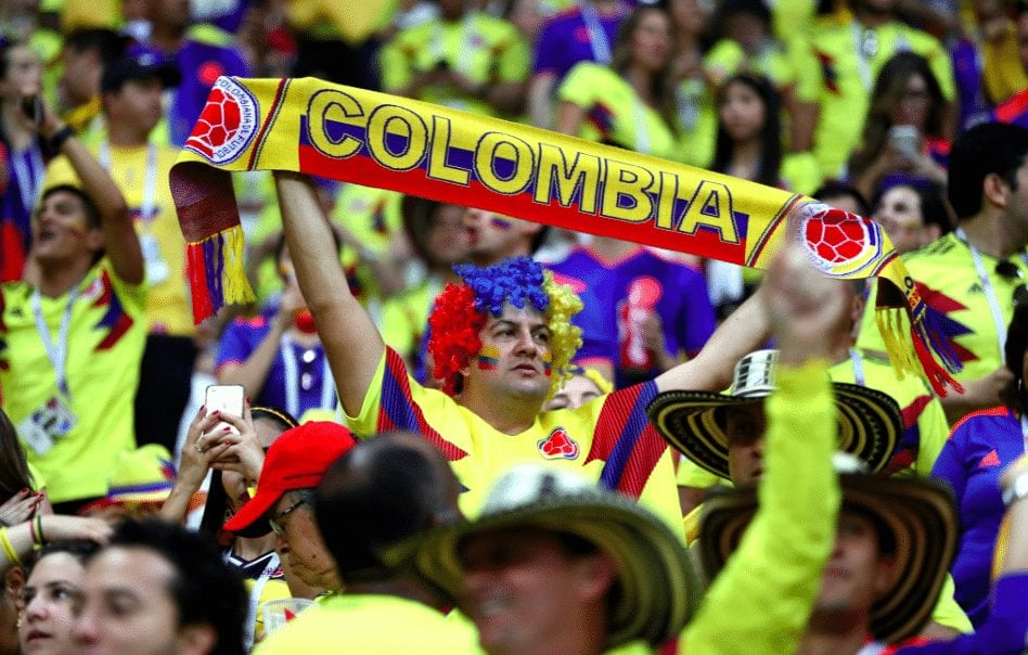 Colombia national team receives warm welcome home from World Cup