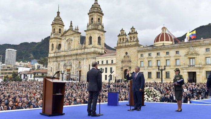 Iván Duque sworn in as Colombia's youngest ever president